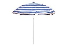 Blauwe en witte gestreepte paraplu Royalty-vrije Stock Foto's
