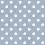 Blauwe en Witte Grote Polka Dots Pattern Repeat Background Stock Foto's
