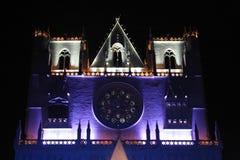 Blauwe en witte Kathedraal heilige-Jean Stock Foto