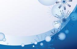 Blauwe en witte Kerstkaart stock illustratie
