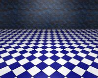 Blauwe en witte ruimte Stock Afbeelding