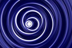 Blauwe en witte spiralen vector illustratie