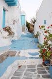 Blauwe en Witte Steeg Stock Fotografie