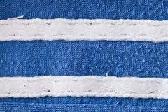 Blauwe en witte stof Stock Fotografie