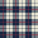 Blauwe en witte stoffentextuur in een vierkant patroon  stock illustratie