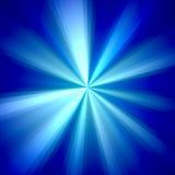 Blauwe en Witte Stralenachtergrond Royalty-vrije Stock Afbeelding