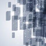Blauwe en witte technologie abstracte achtergrond Stock Afbeelding