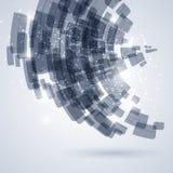 Blauwe en witte technologie abstracte achtergrond Royalty-vrije Stock Foto's