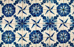 Blauwe en Witte tegels stock fotografie