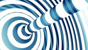 Blauwe en witte torus stock footage