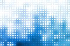 Blauwe en Witte Trendy Orbs Abstracte Achtergrond Royalty-vrije Stock Foto's