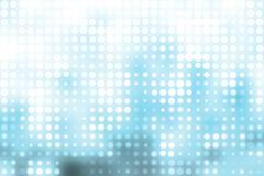 Blauwe en Witte Trendy Orbs Abstracte Achtergrond royalty-vrije illustratie
