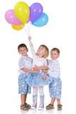 Blauwe en witte viering Stock Fotografie