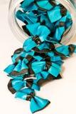 Blauwe en witte vlinderdasdeegwaren Royalty-vrije Stock Foto's