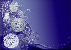 Blauwe en zilveren Kerstmis Stock Fotografie