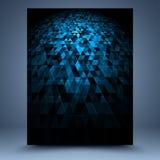 Blauwe en zwarte geometrische abstracte achtergrond Royalty-vrije Stock Foto