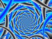 Blauwe en Zwarte Spiraal Stock Fotografie