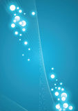 Blauwe energieachtergrond Stock Foto