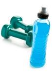 Blauwe energiedrank Stock Foto's