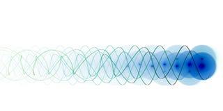 Blauwe energiestraal Stock Foto's