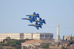 Blauwe Engelen over Alcatraz Royalty-vrije Stock Afbeelding