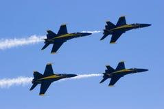 Blauwe Engelen tijdens de vlucht Royalty-vrije Stock Foto