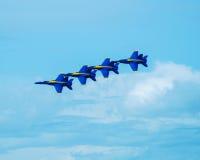 Blauwe Engelen in Vorming Stock Afbeeldingen