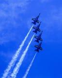 Blauwe Engelen in Vorming Royalty-vrije Stock Afbeelding