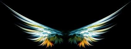 Blauwe engelenvleugels Stock Foto