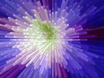 Blauwe explosie royalty-vrije stock afbeelding