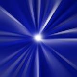 Blauwe explosie Royalty-vrije Stock Foto's