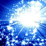 Blauwe explosie Stock Afbeelding