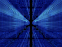 Blauwe fantasie kubieke vreemde gegevensbestanden Royalty-vrije Illustratie