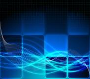 Blauwe fantasieachtergrond Stock Fotografie