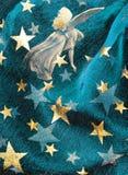 Blauwe feestelijke achtergrond Stock Afbeelding