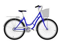 Blauwe fiets Stock Fotografie