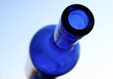 Blauwe fles II stock foto's