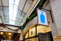 Blauwe Flessenkoffie San Francisco Stock Foto