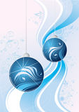 Blauwe fonkelende grafische ballen   Vector Illustratie
