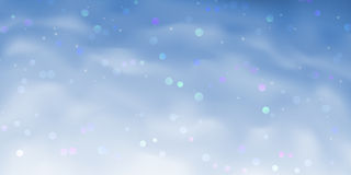 Blauwe fonkelende hemelachtergrond Stock Fotografie