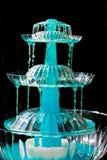 Blauwe Fontein Stock Foto