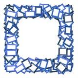 Blauwe fotoframe grens op wit Royalty-vrije Stock Foto's