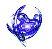 Blauwe Fractal Als achtergrond Stock Afbeeldingen