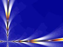 Blauwe Fractal Als achtergrond Royalty-vrije Stock Foto
