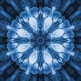 Blauwe Fractal Caleidoscoop Royalty-vrije Stock Foto