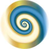 Blauwe fractal spiraal Royalty-vrije Stock Afbeelding