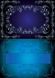 Blauwe frames Stock Afbeelding