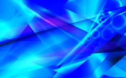 Blauwe futuristische abstracte achtergrond Royalty-vrije Stock Fotografie