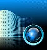 Blauwe futuristische achtergrond Royalty-vrije Stock Foto's