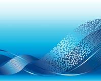 Blauwe futuristische achtergrond Royalty-vrije Stock Foto